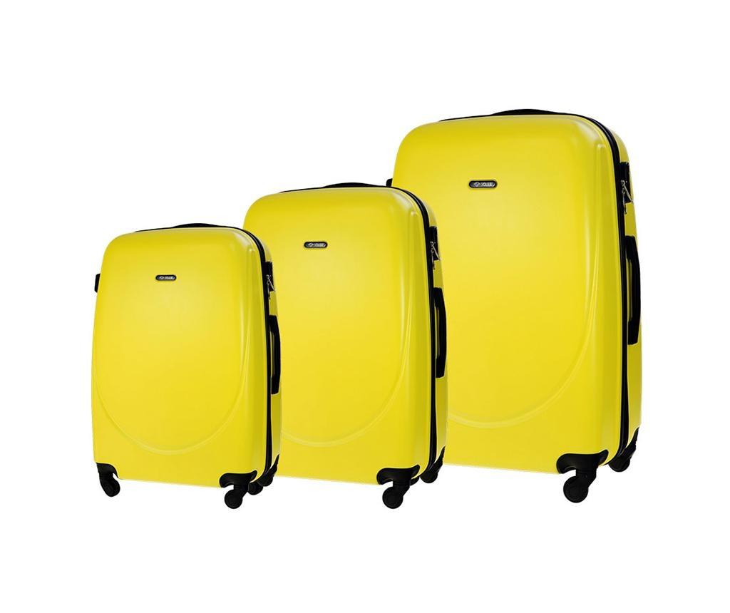 Set 3 putne torbe s kotačićima