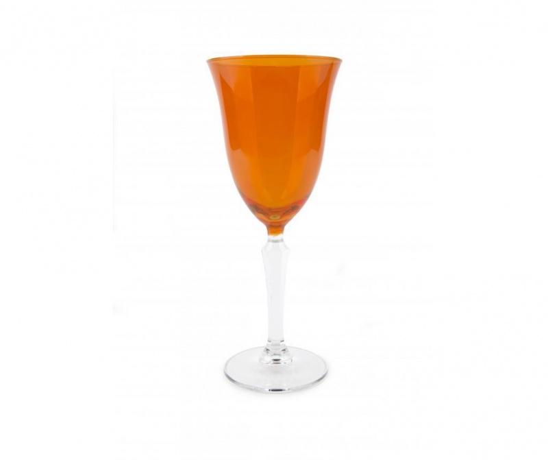 Pahar cu picior Crystal Wine Orange 320 ml