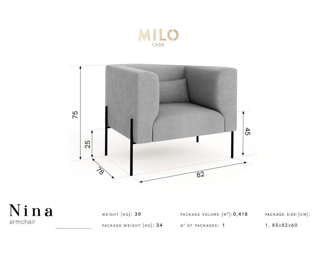 Fotelja Nina Cream