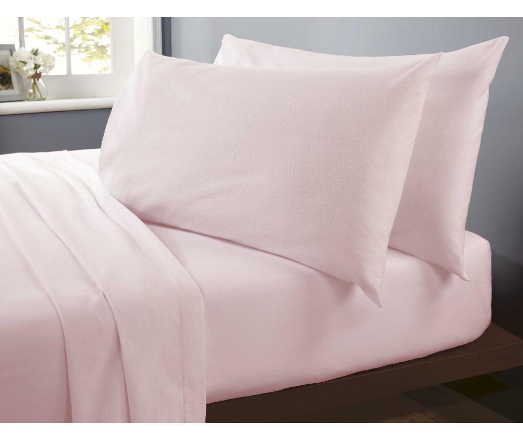 Plahta s elastičnom gumicom Flannelette Pink