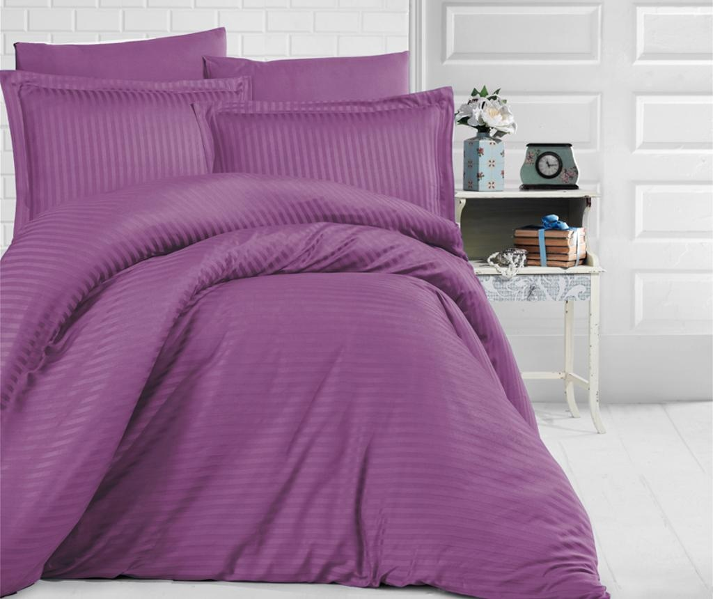 Set posteljina King Satin Supreme Uni Color Purple