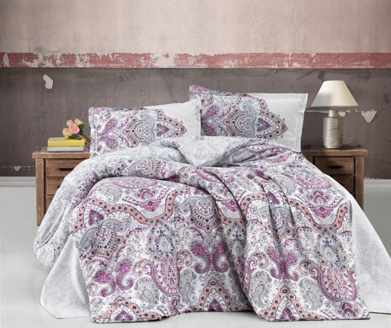 Set posteljina King Ranforce Paliza Pink