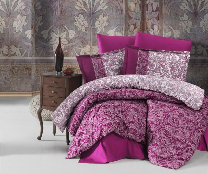 Posteljnina King Satin Supreme Polo Purple