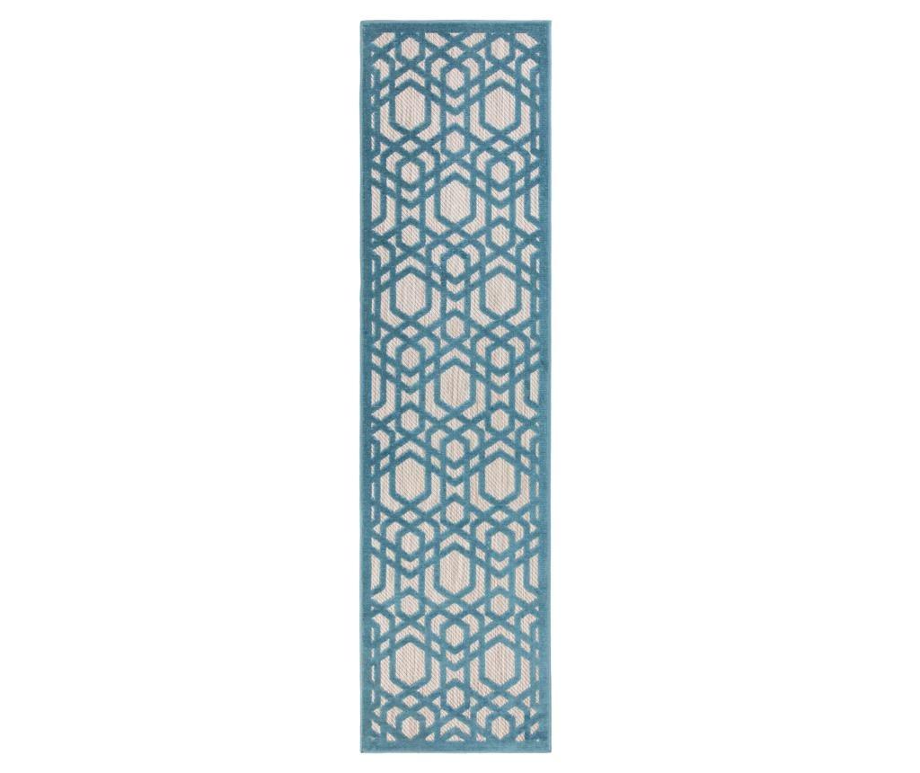 Tepih Oro Blue 66x300 cm