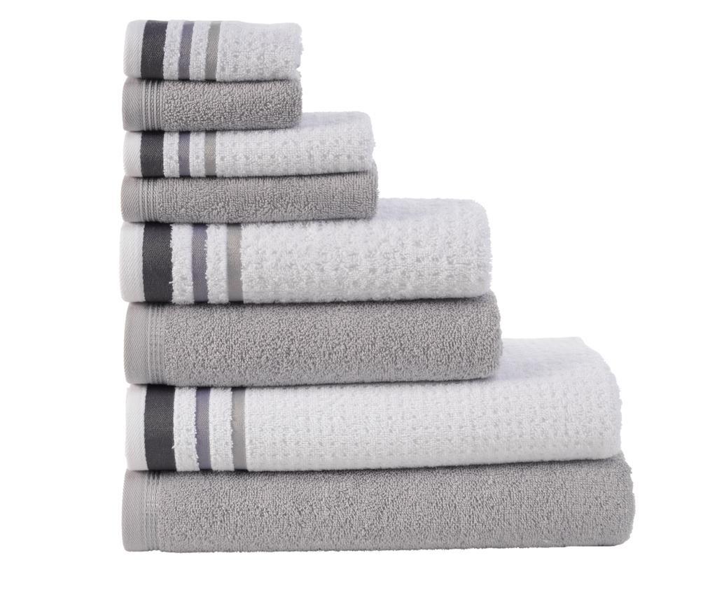 Set 8 ručnika Alina Grey