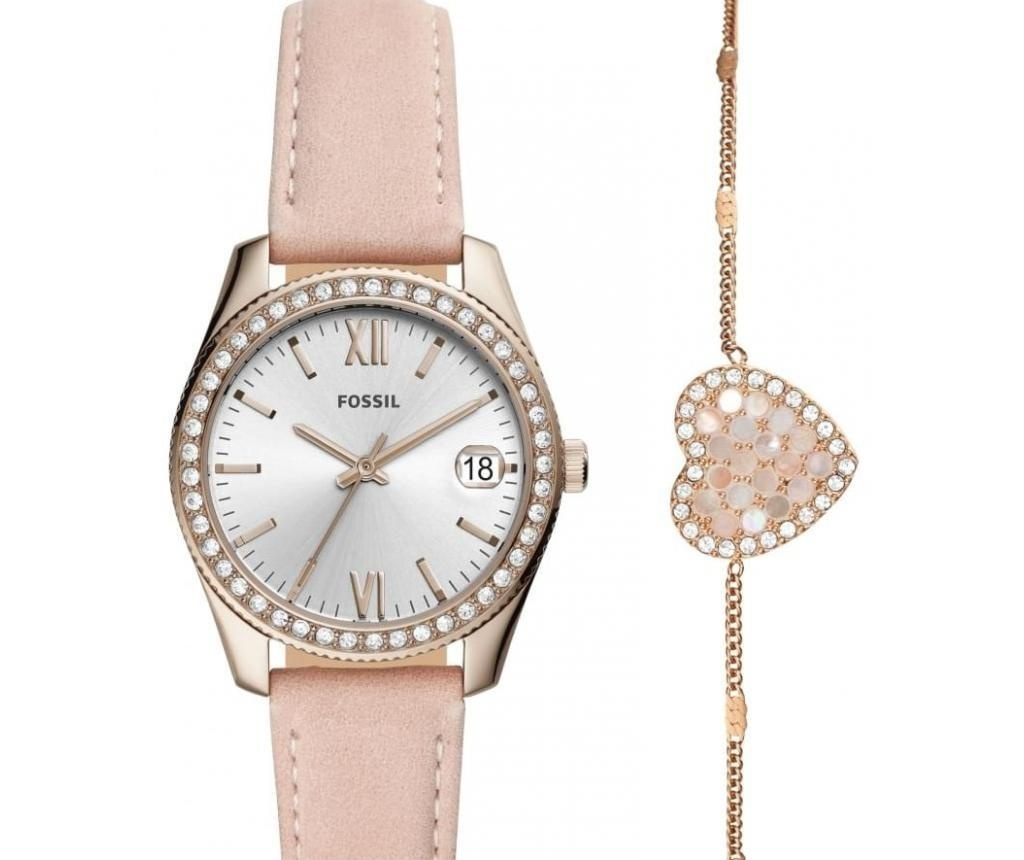 Sada dámské náramkové hodinky a náramek Fossil Scarlette