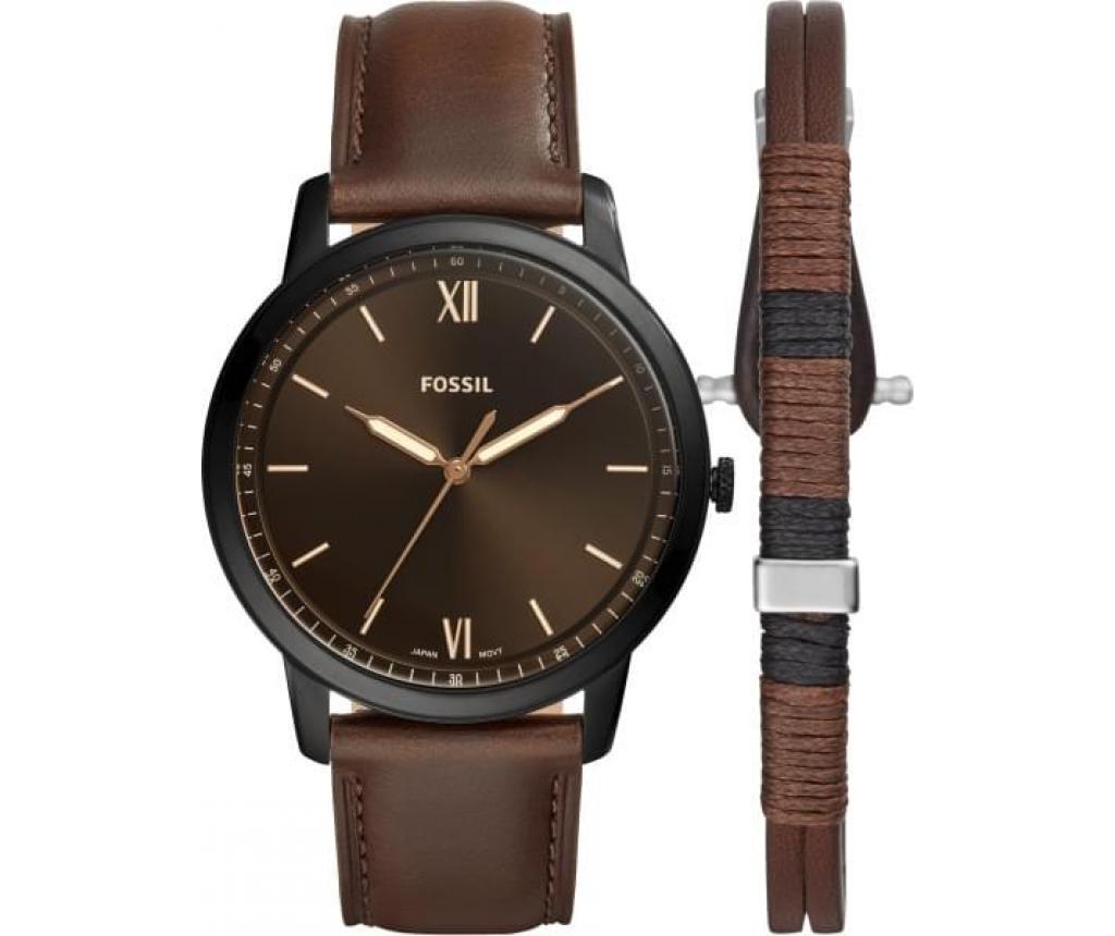Sada pánské hodinky a náramek Fossil The Minimalist