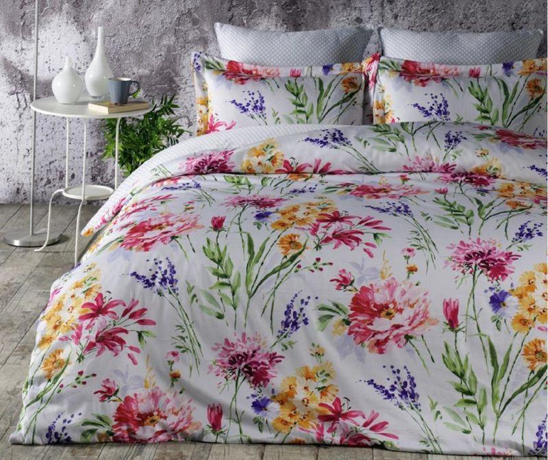 Set posteljina King Satin Supreme Flore