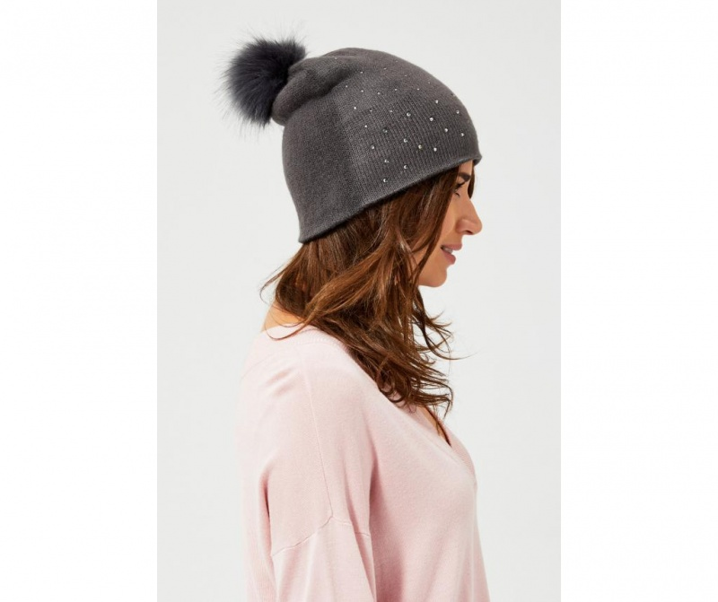 Ženska zimska kapa Angye Grey