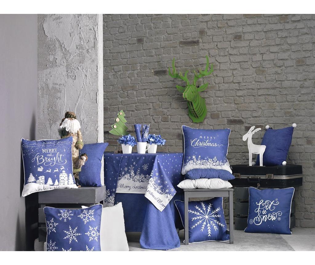 Stolnjak Merry Christmas Blue 140x140 cm