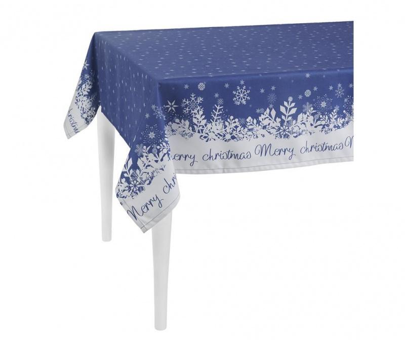 Fata de masa Merry Christmas Blue 140x300 cm