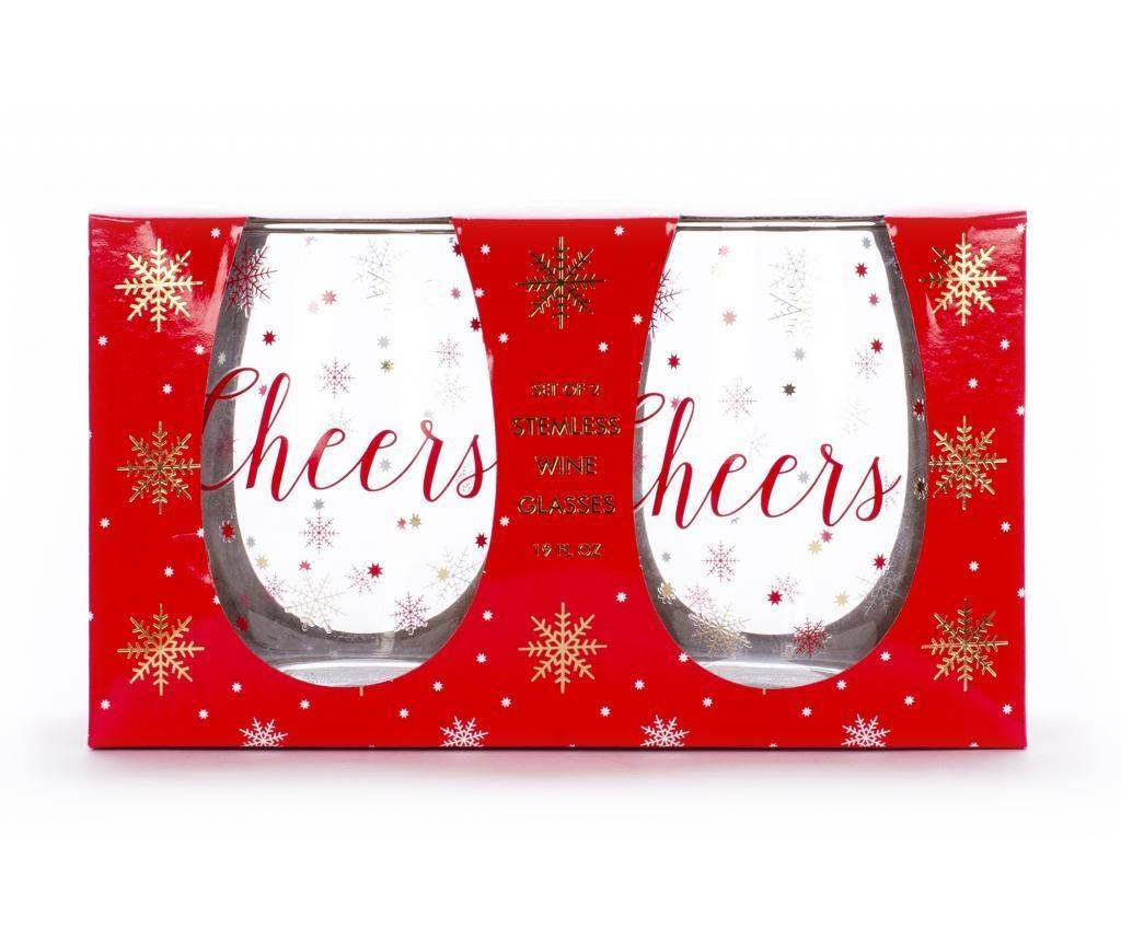 Set 2 kozarcev za vino