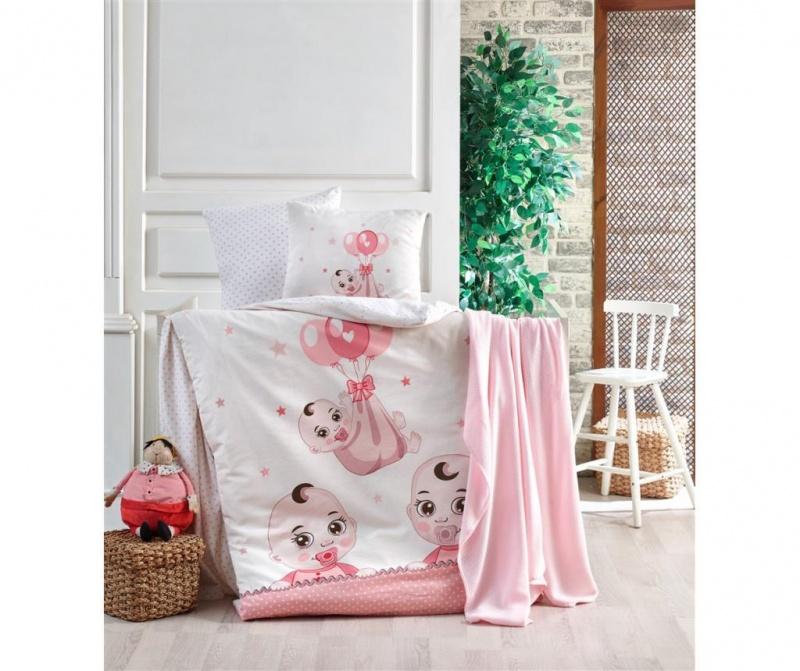Posteljnina za otroško posteljico Babies Pink