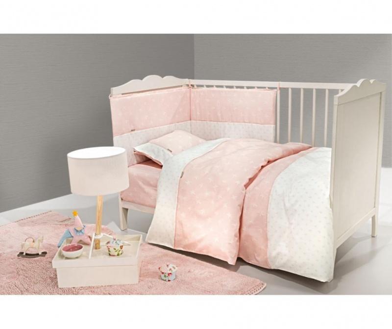 Posteljnina za otroško posteljico Heaven Pink