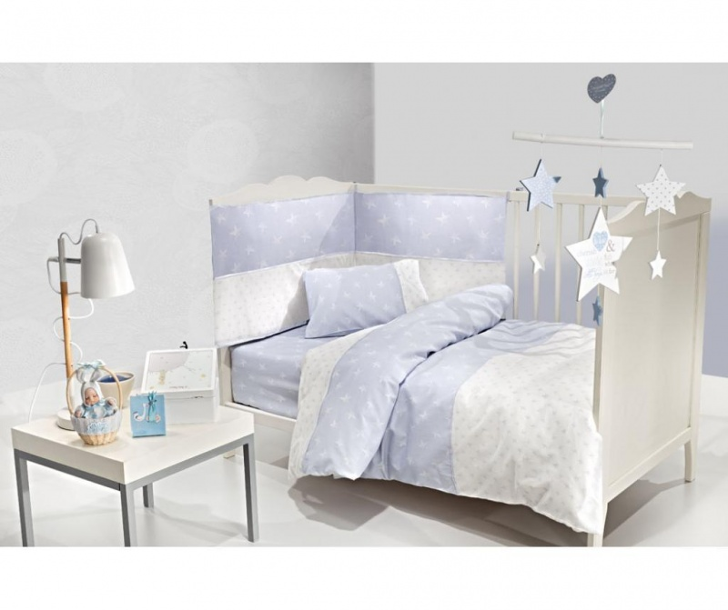 Posteljnina za otroško posteljico Heaven Blue