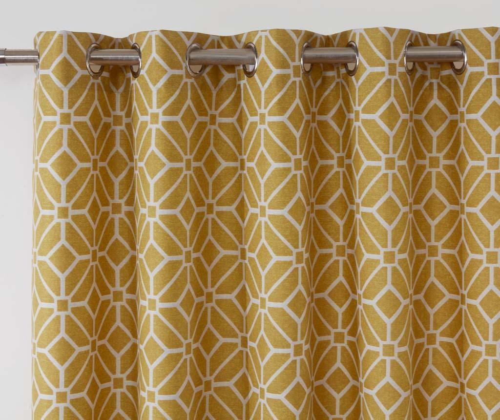 Set 2 zavjese Kelso Yellow 117x183 cm