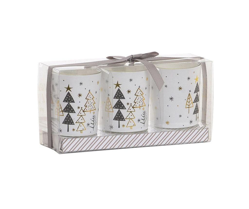 Set 3 svijeća Christmas Tree