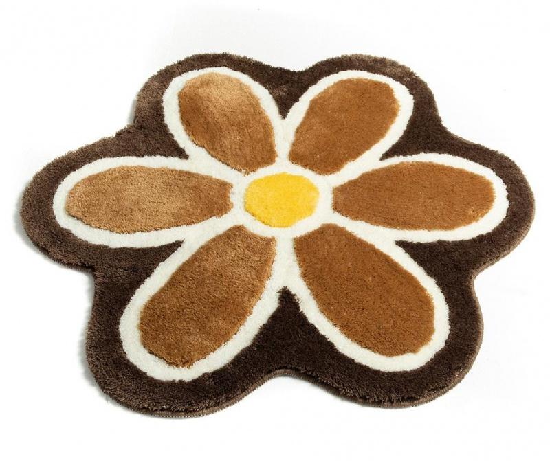 Kopalniška preproga Flower Coffee 90 cm