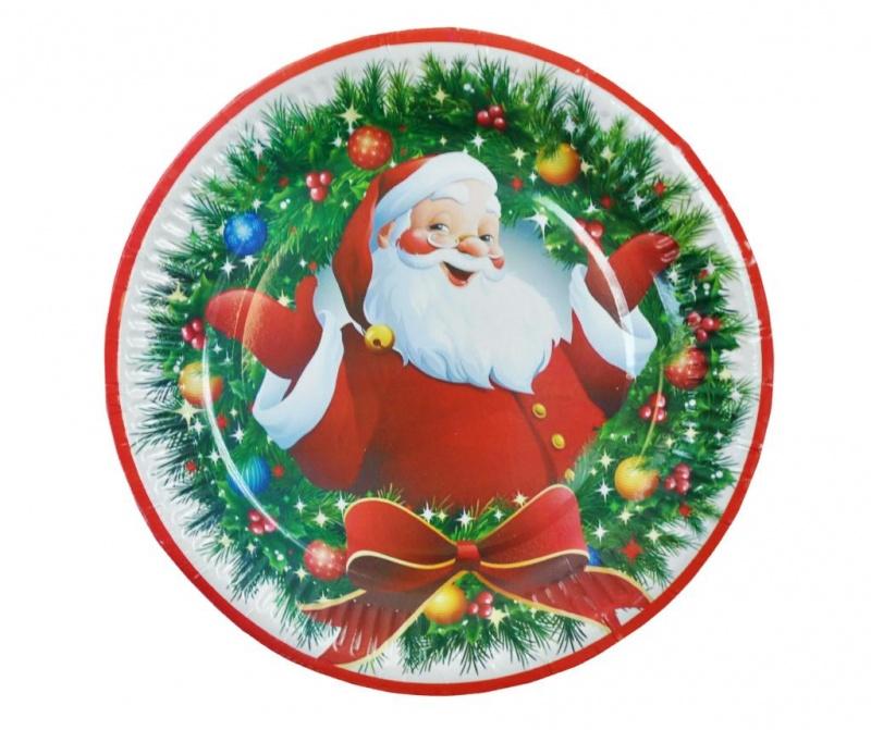 Set 6 plitkih tanjura za jednokratno korištenje Christmas