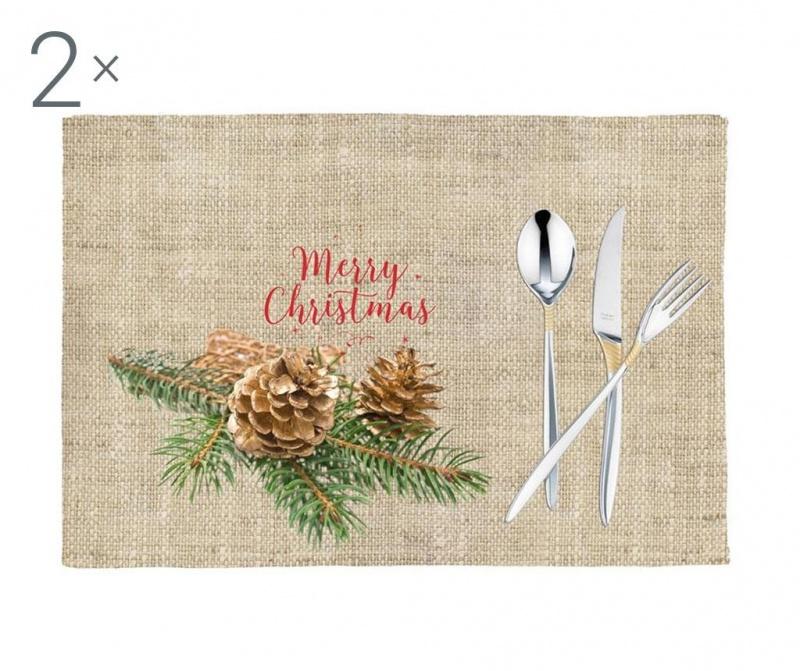Set 2 podmetača Christmas Delight 33x45 cm