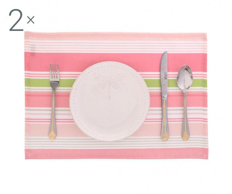 Set 2 individualuri Lines Pink 33x45 cm