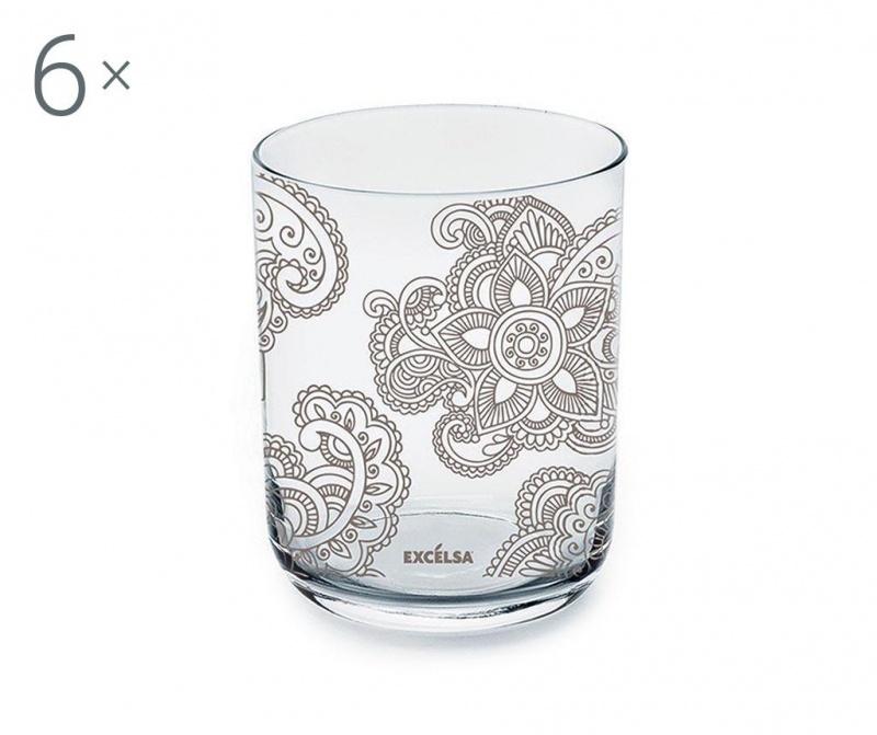 Sada 6 sklenic Enjoy Mandala 350 ml