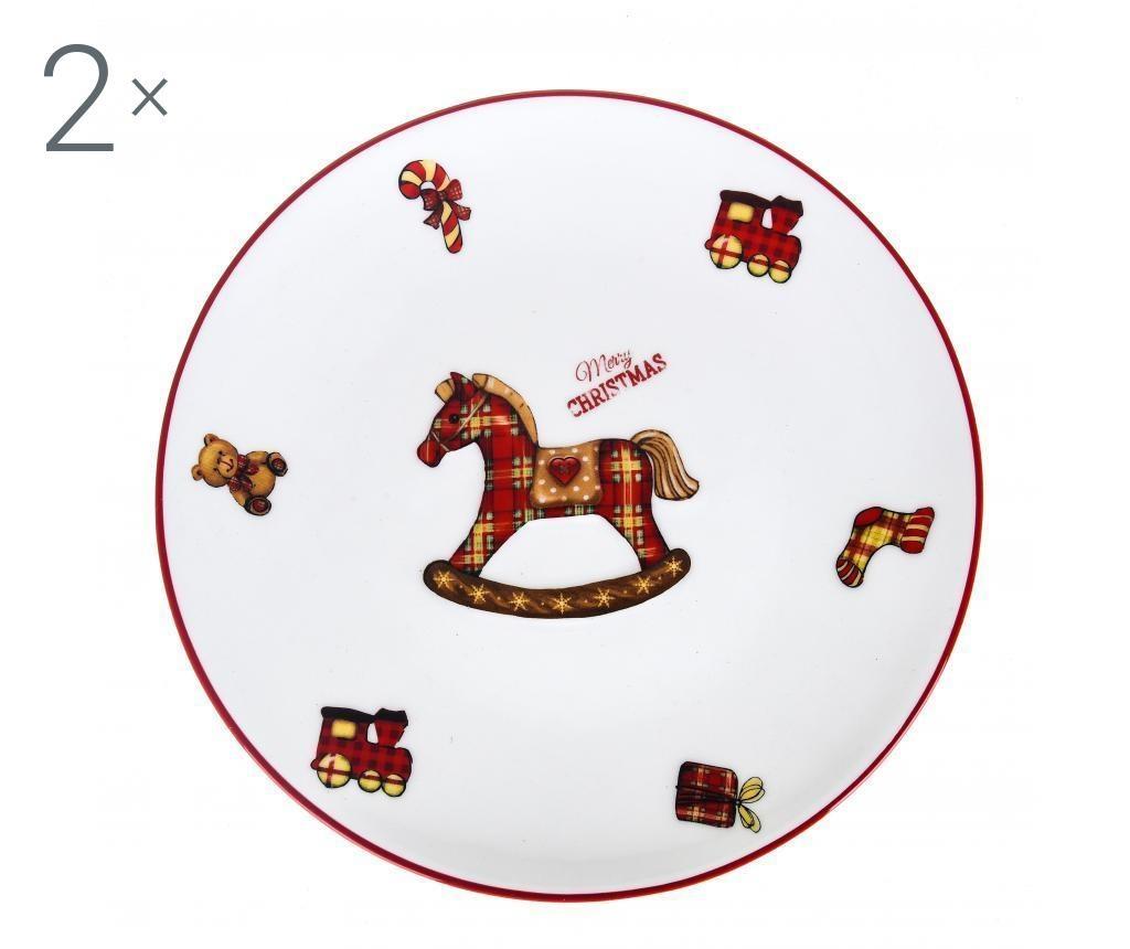 Set 2 dekorativnih krožnikov