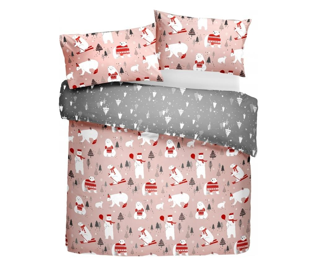 Povlečení Polar Bears Pink Single