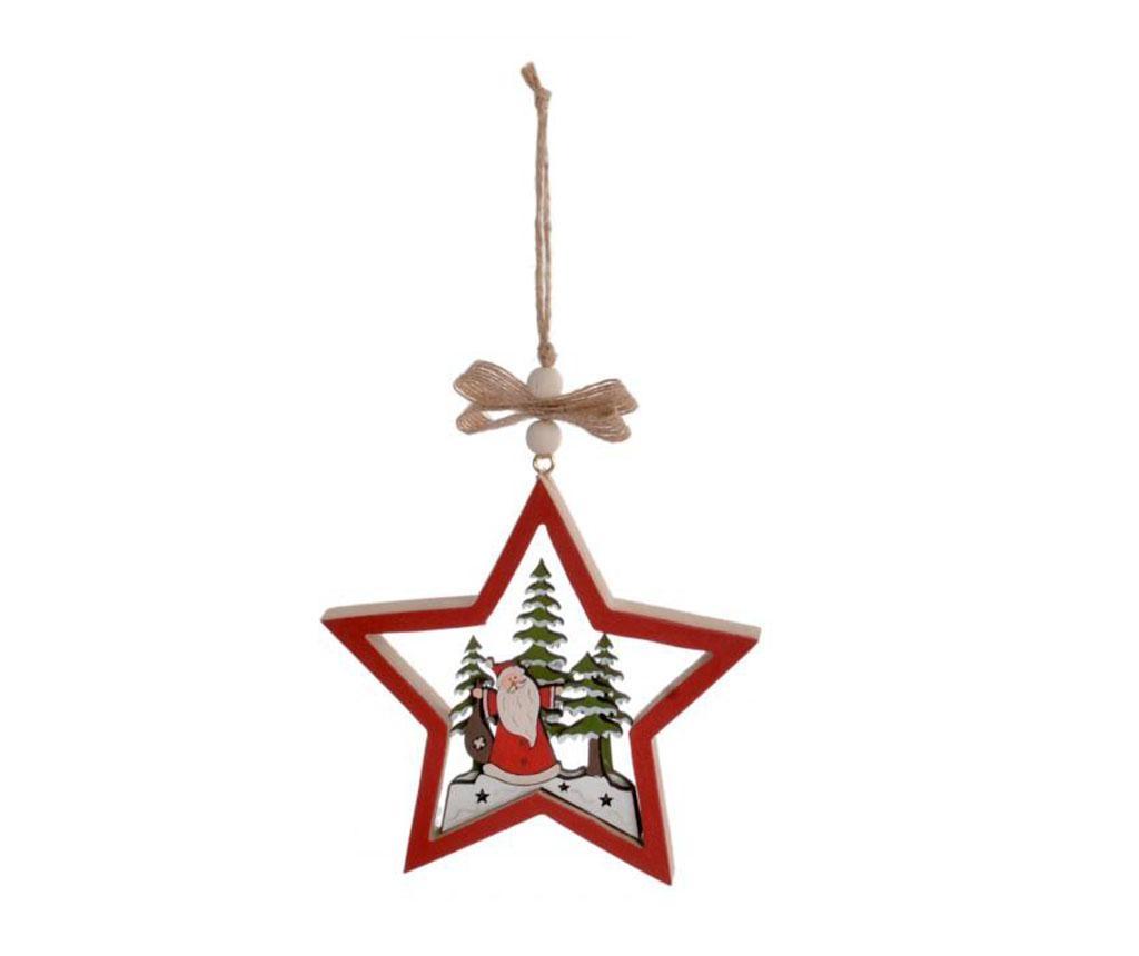 Viseći ukras Christmas Star Red