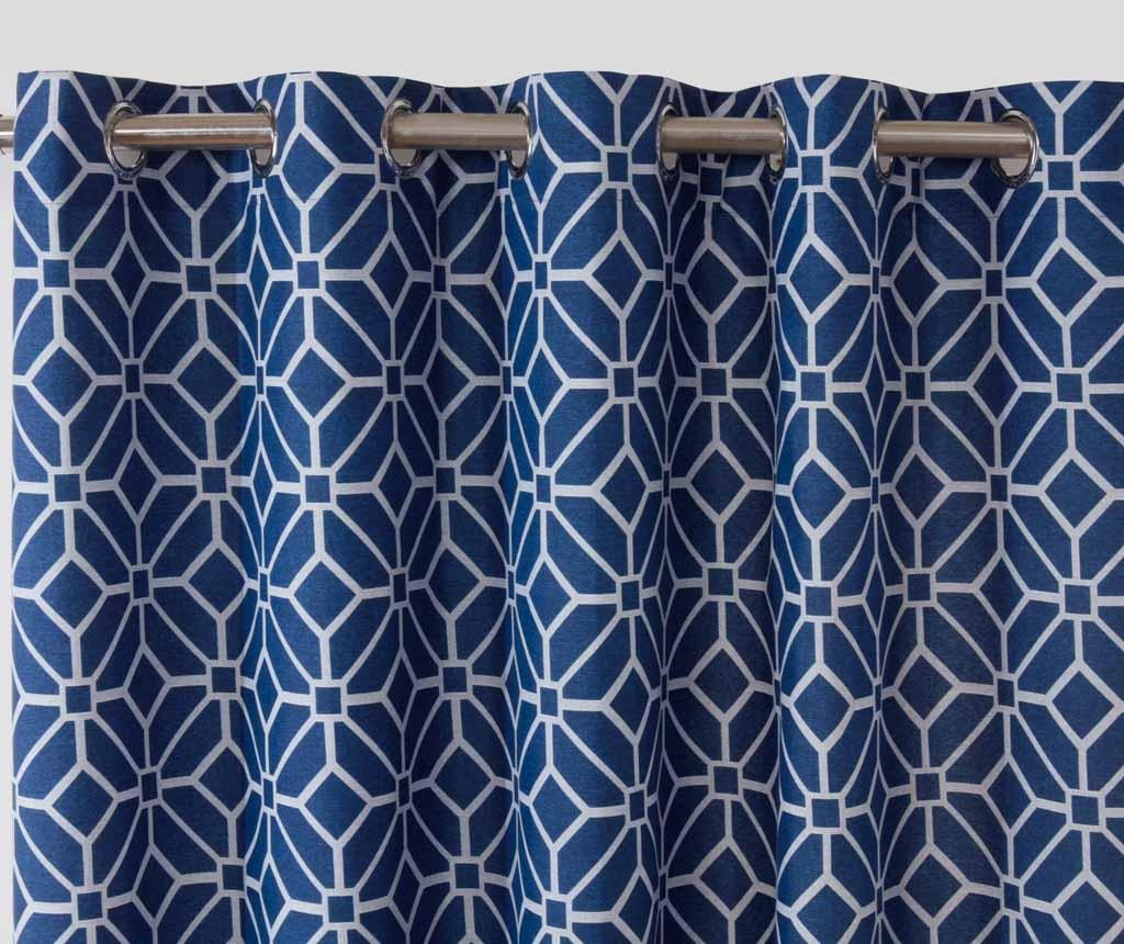 Set 2 zaves Kelso Blue 229x229 cm