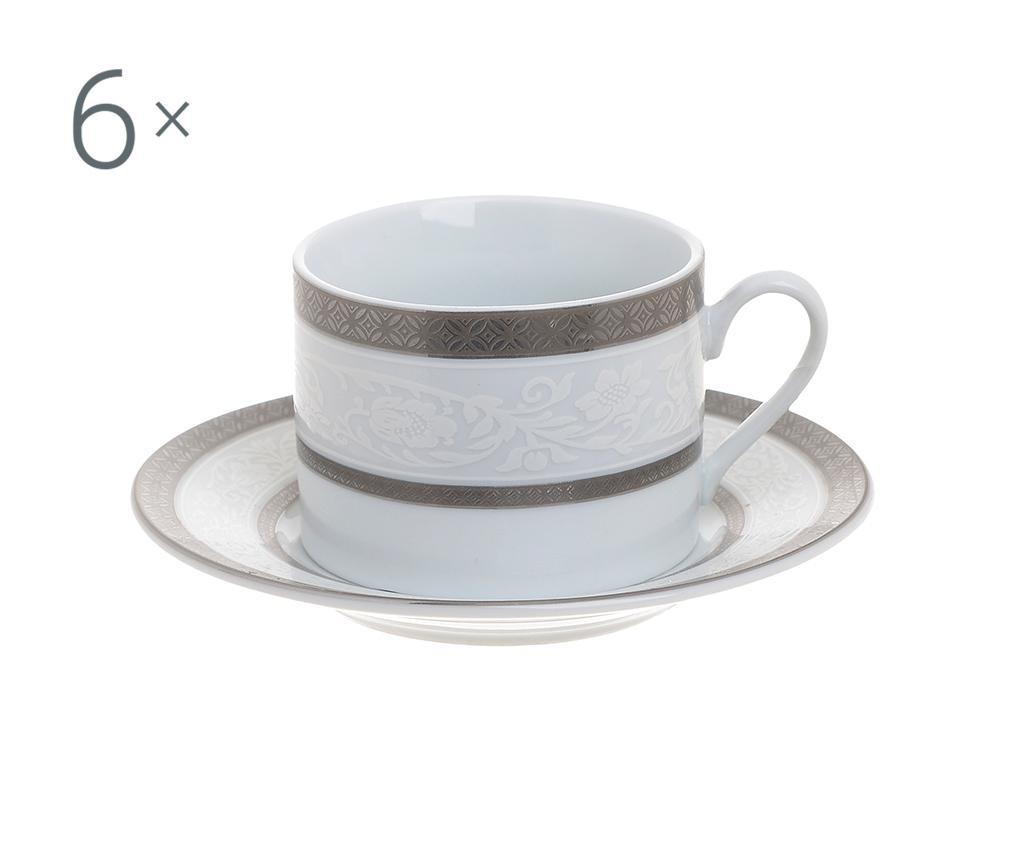 Set 6 skodelic za kavo in 6 krožničkov Josefa