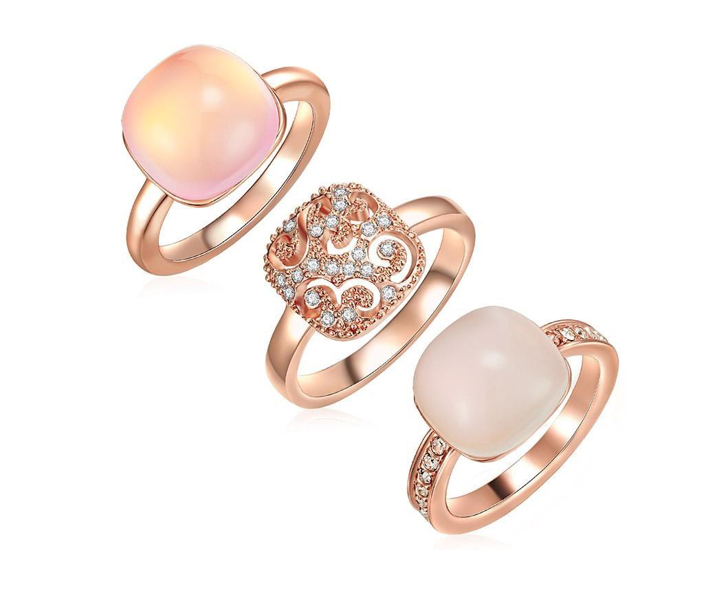 Sada 3 prstenů Swarovski Crystals 50 mm