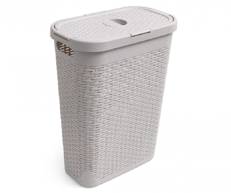 Košara za rublje s poklopcem Slim Effect 40 L