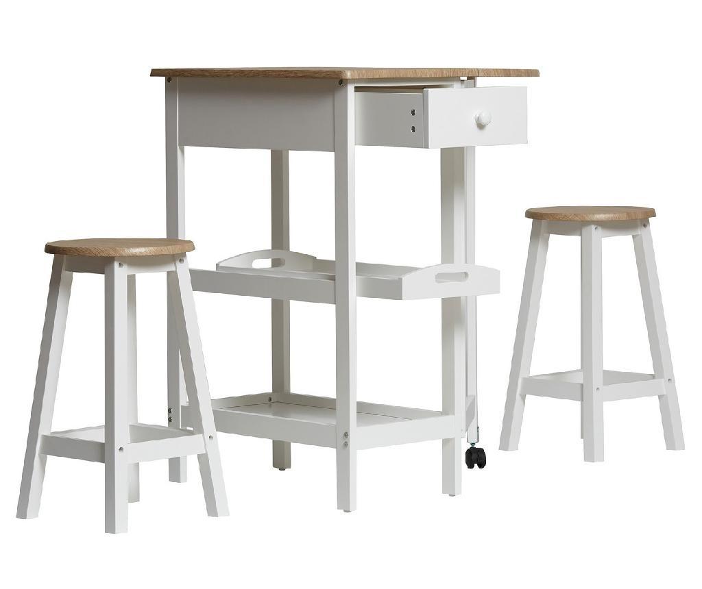 Sada stůl a 2 židlí Auri